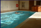 Private indoor swimming pool in Use